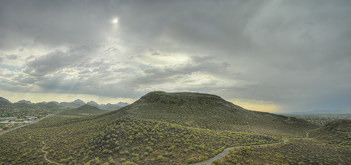 Tumamoc Hill from its sister peak, A-Mountain. Photograph by Paul Mirocha
