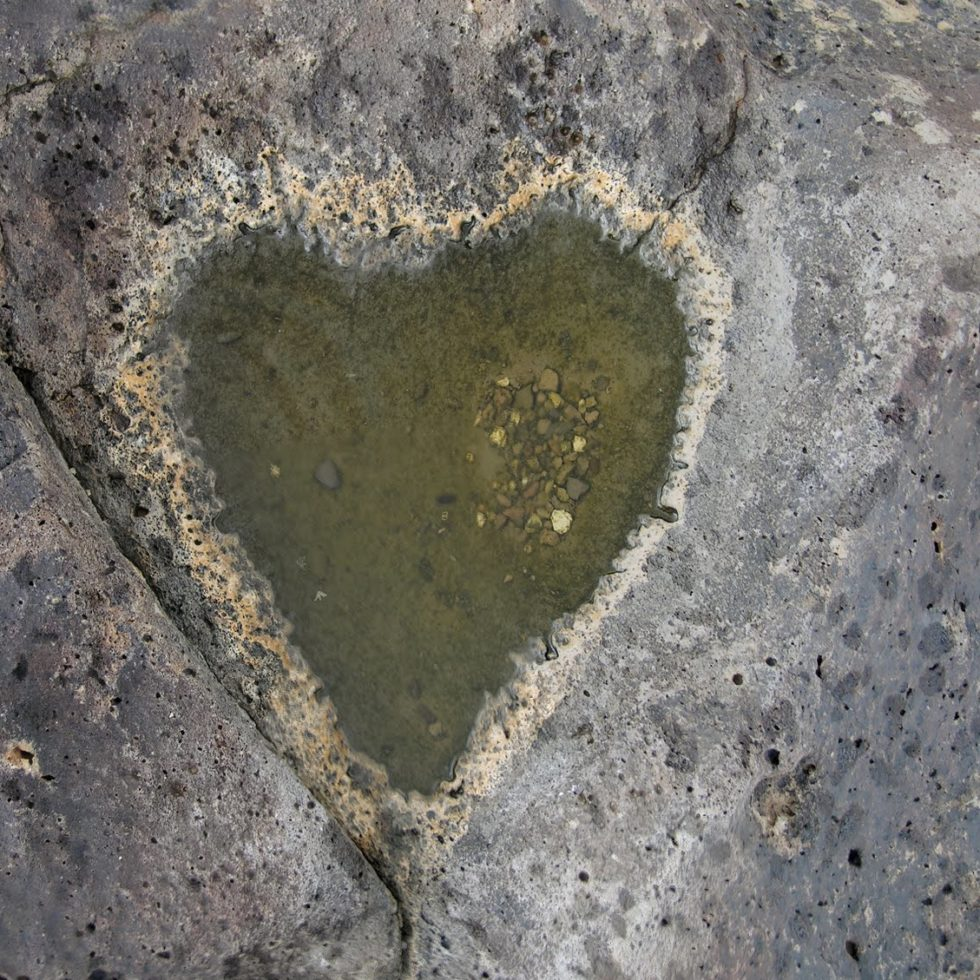 Heart in teh rock