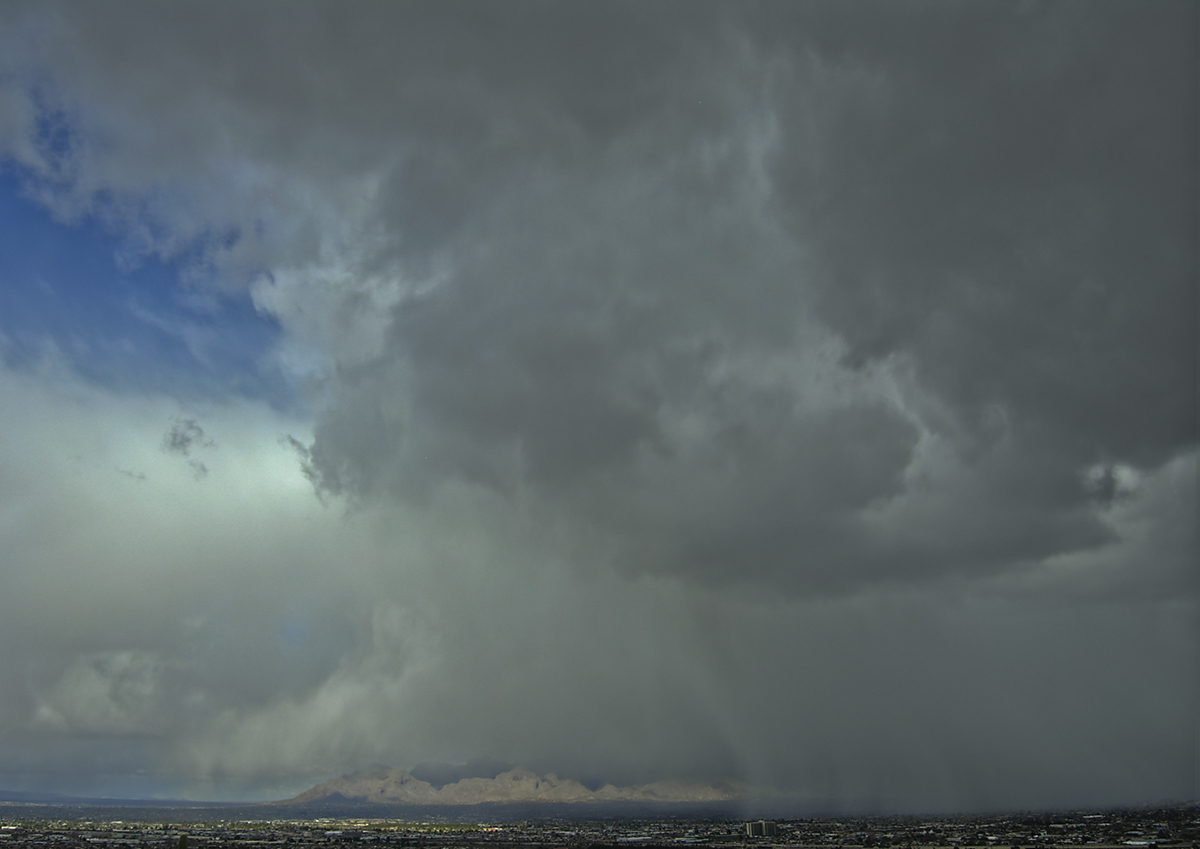 rainstorm over Tucson