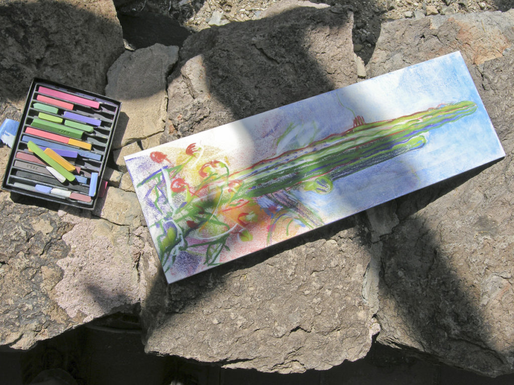 Meredith's pastel sketch