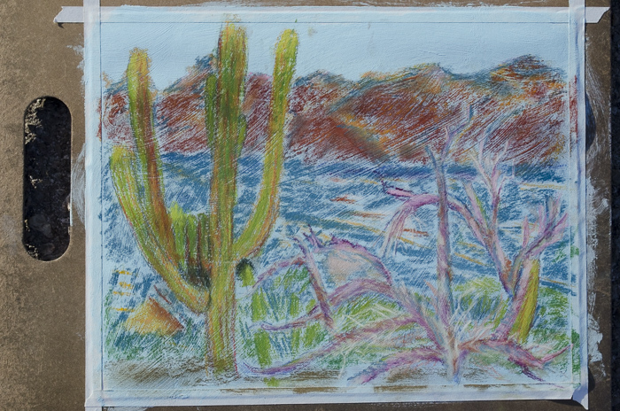 Veronica Blake, colored pencil sketch