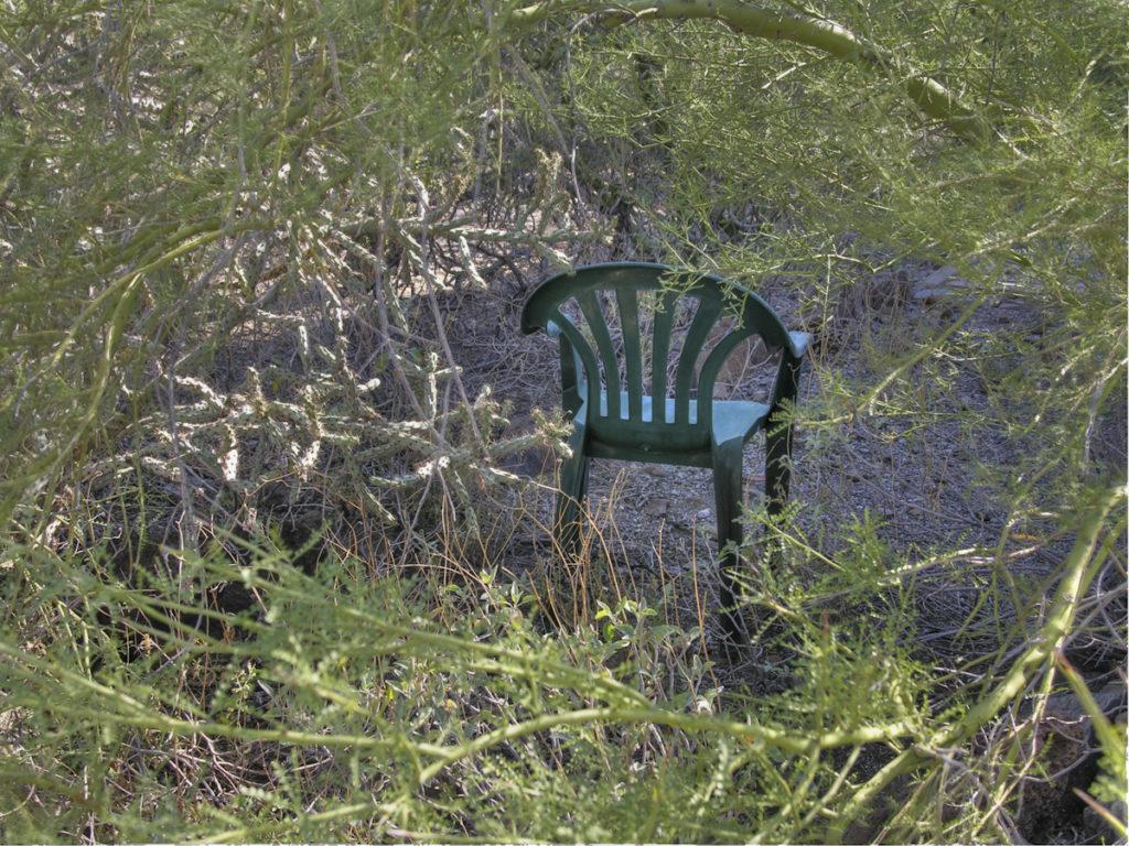 chair in desert