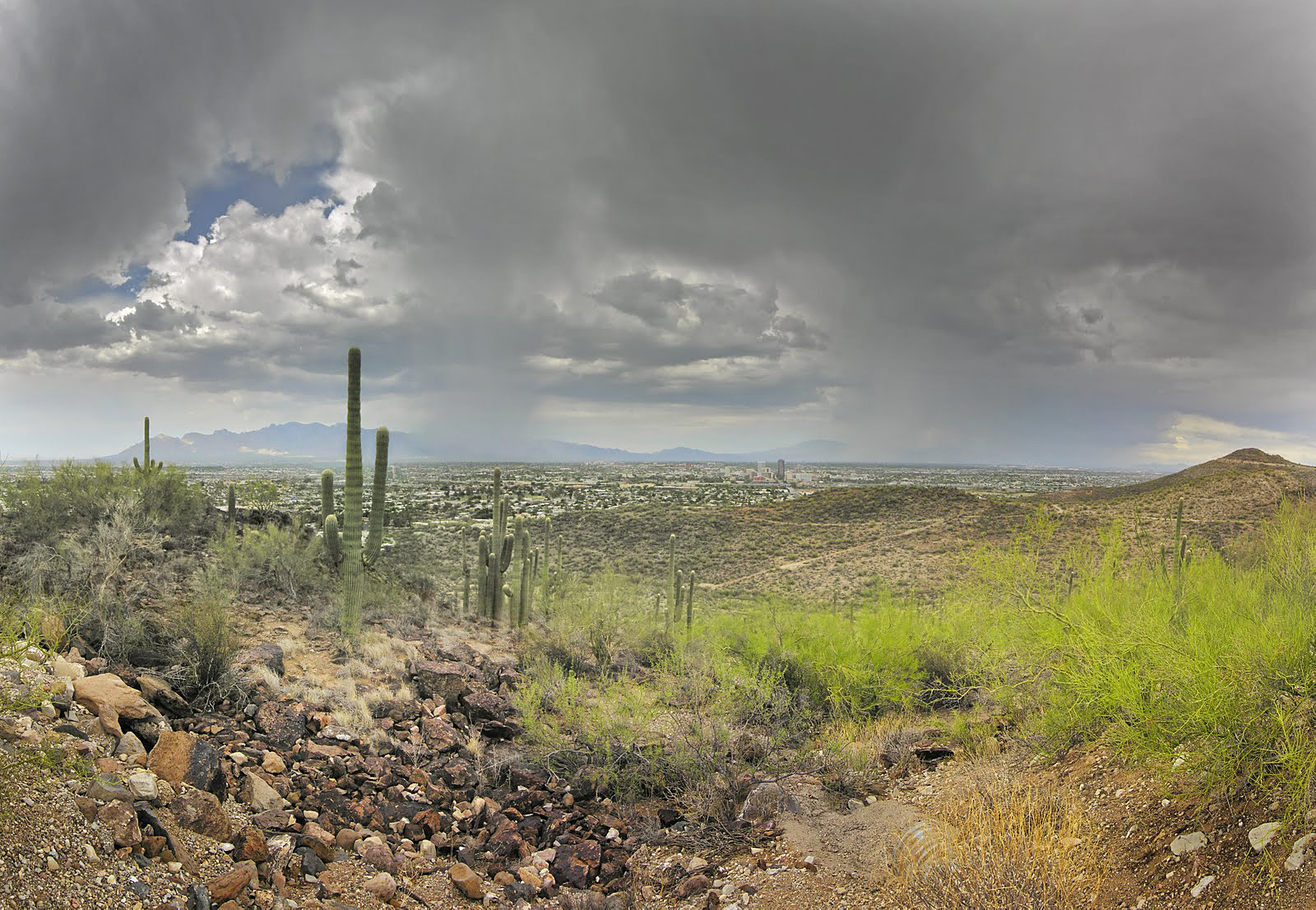 monsoon over tucson