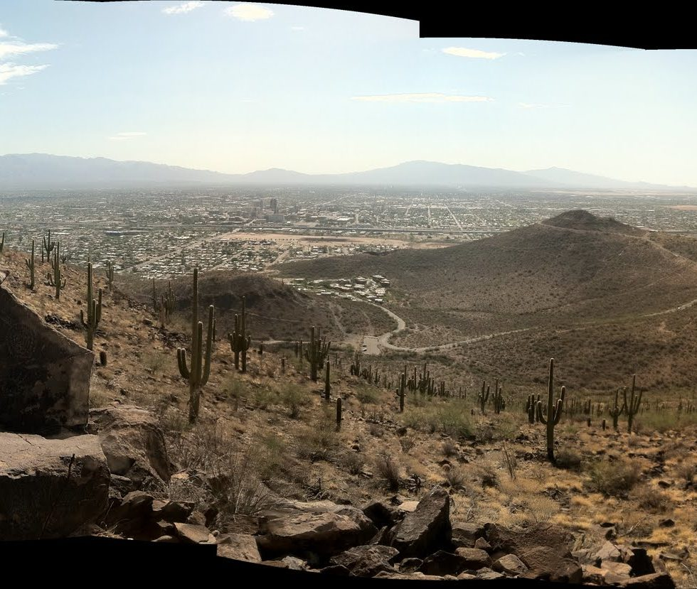 view from summit of Tumamoc Hill