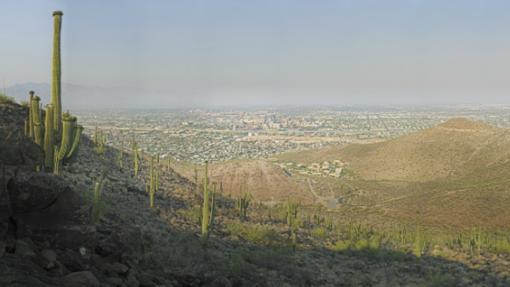 snapshot from Gigapan of downtown Tucson from Tumamoc summit