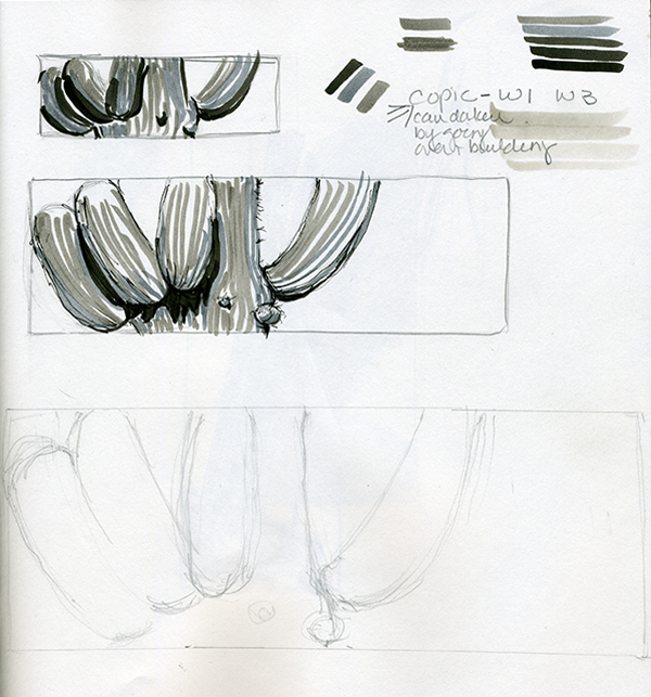 Sketchbook page by Gale Sherman
