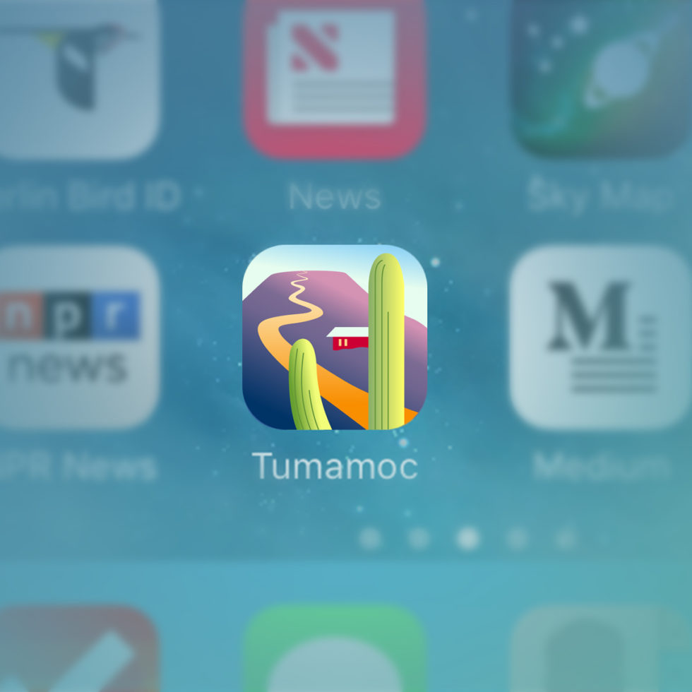 iphone screen with tumamoc icon