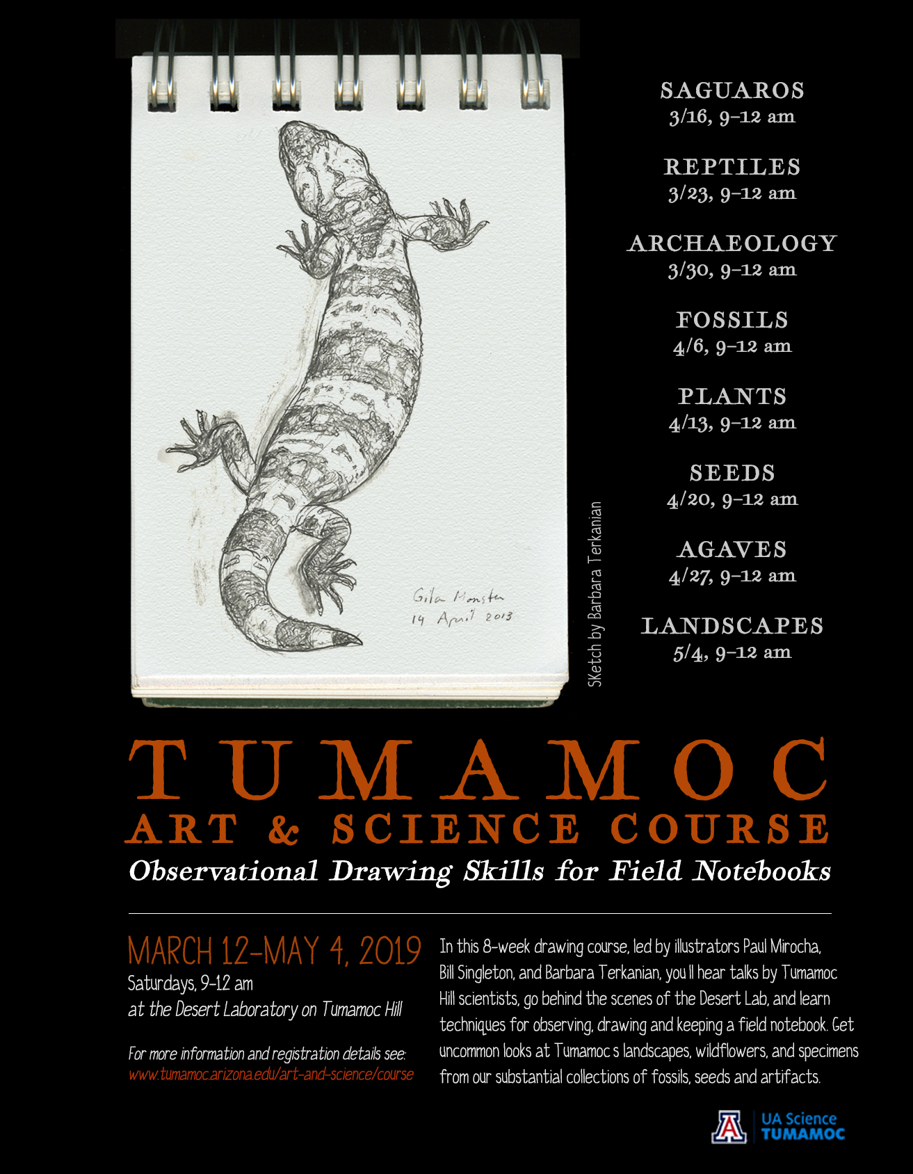 Tumamoc art & science course