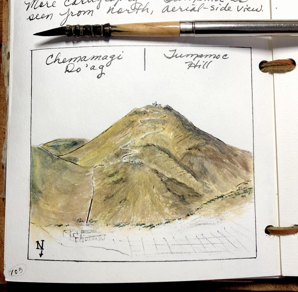 Visualizing Tumamoc Hill in a 3D map form.